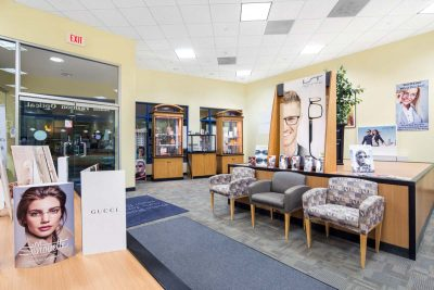 Interior shot of main fashion optical store in bergenfield new jersey